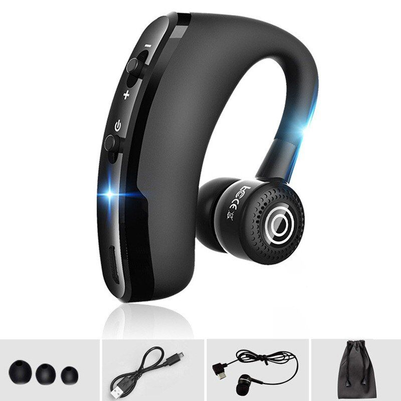 Evida V8s Business Wireless Headset Bluetooth Handsfree Earphone with MIC Noise Cancelling Car Driving Headset for all phones