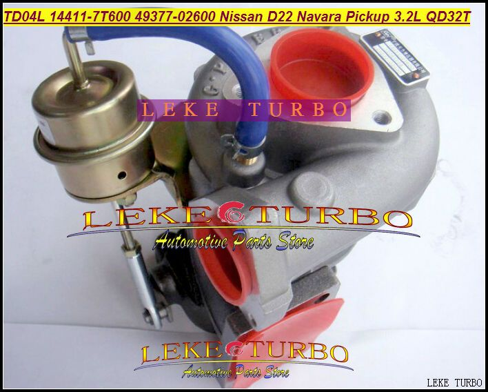 TD04L 14411-7T600 49377-02600 49377 02600 Turbo Turbocharger For Nissan Navara Pickup D22 TD27 NS25 QD32 QD32T 3.2L With Gaskets