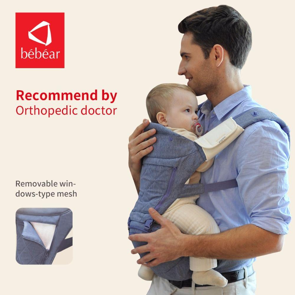 Bebear neue hipseat für prevent o-typ beine luftfahrt-aluminium core Ergonomische babytragen manduca rucksack speichern aufwand kind sling