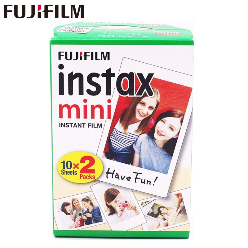 20pcs/box fujifilm instax mini 8 9 film 20 sheets for camera Instant mini 7s 25 50s 90 Photo Paper White Edge 3 inch wide film