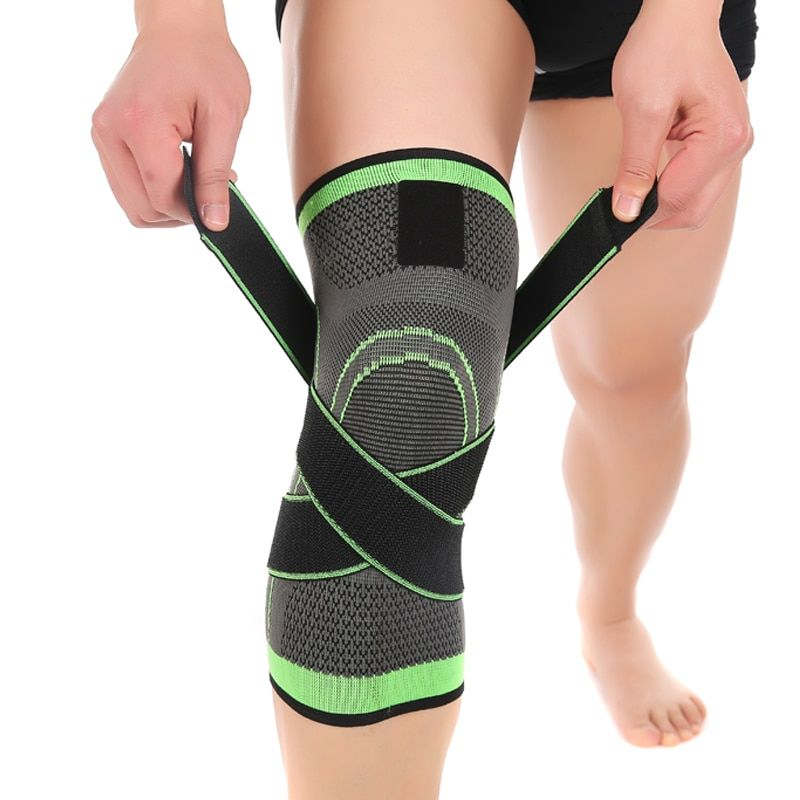 3D tissage pressurisation genouillère basket-ball de tennis, randonnée, cyclisme genou soutien professionnel de protection sport knee pad