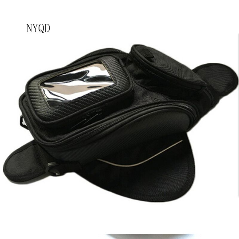High quality Motorcycle tank bag motorbike oil fuel tank bag Magnetic Motorcycle Oil Fuel Tank Bike saddle bag motorcycle bag