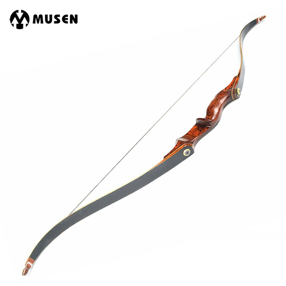 American Hunting Recurve Bow Length 58 Inches 25-55 LBS Wooden Handle for Outdoor Archery Bow Hunting Shooting