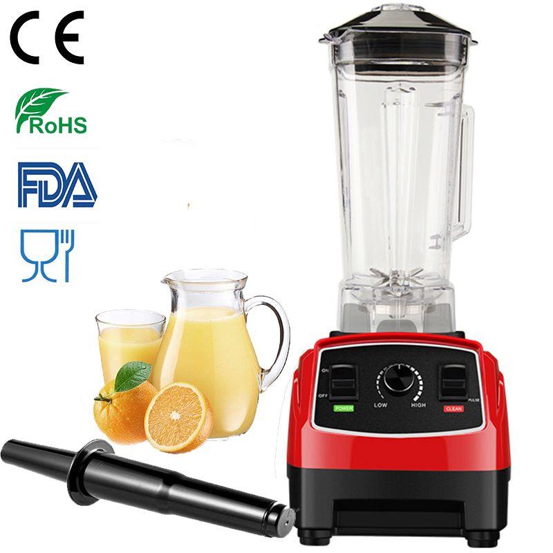 100% DEUTSCH Motor Technologie 3HP 2200 watt BPA FREI 2L entsafter Mixer eis smoothie & entsafter küchenmaschine Kommerziellen Mixer