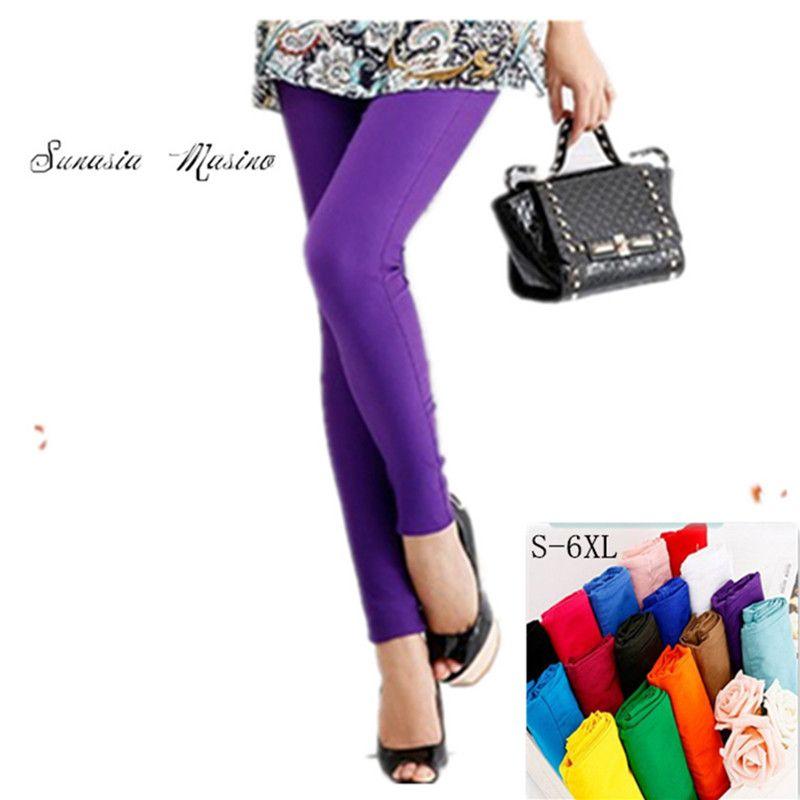 Pantalon capris femme mode 2018 pantalon taille haute 19 couleurs S-6X, 5XL, 4XL ....