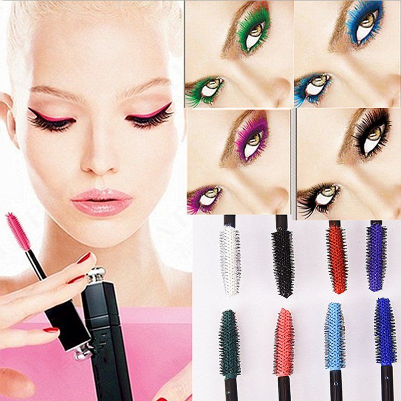 New Waterproof Mascara Charm Curling Eyelash Extension Makeup Cosmetic Charming Mascara 8 Colours  For Choice WD2