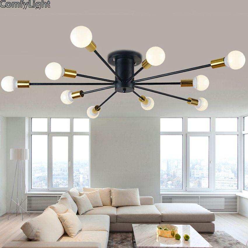 Mordern Nordic romantic led Bulb Light Simple Pendant Lights Vintage Loft creating E27 Art Spider Ceiling Lamp Fixture Light