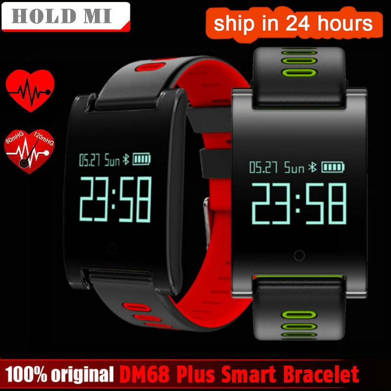 Hold Mi DM68 PLUS Smart Wristband Blood Pressure Heart Rate Monitor Bluetooth Fitness Bracelet Call Reminder Activity Tracker