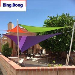 Custom Sun Shade Sail UV PU Waterproof Cloth Square Triangles Outdoor Shading Courtyard Balcony Carport Awnings Custom Any Size
