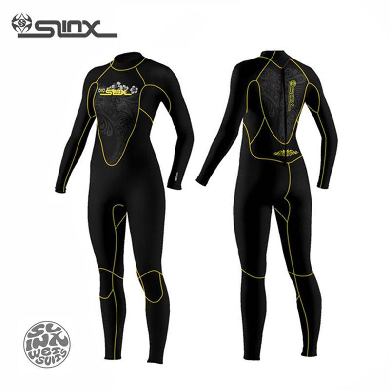 SLINX Узнайте, как 5 мм неопрена Для женщин Подкладка из флиса теплые Мокрые одежды спорта людей Одежда заплыва Виндсерфинг подводное плавание...
