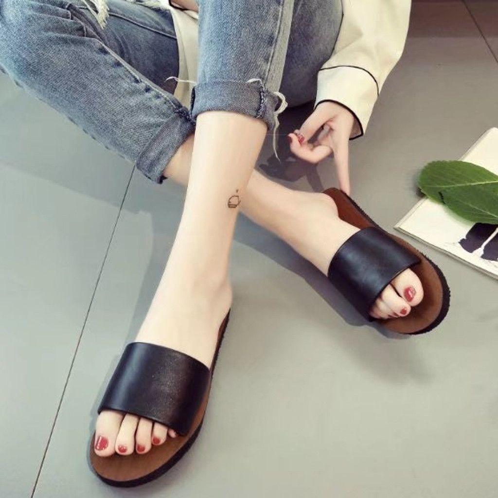 2019 neue Up-To-Date Hausschuhe Weibliche Sommer frauen Sandalen Flachen Boden Nicht-Slip Strand Frauen Schuhe Zapatillas casuales para mujer