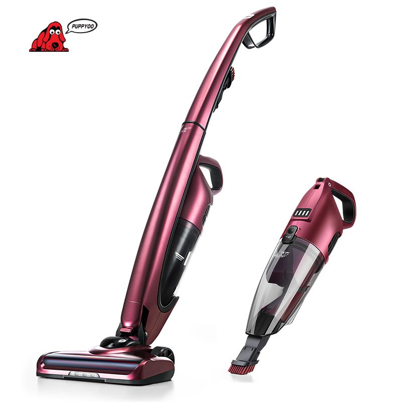 PUPPYOO Cordless Handheld and Stick Vacuum Cleaner for Home Wireless Aspirator Lithium Charging WP511