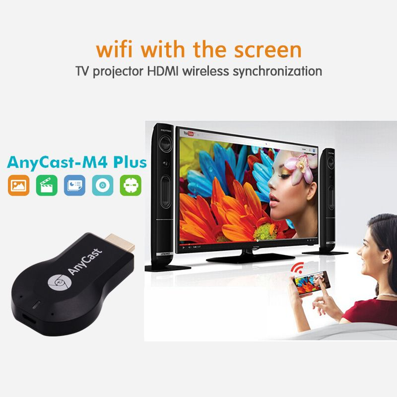 Portable Anycast M4plus Chrome cast Mini PC Android Cast HDMI WiFi Dongle 2 mirroring multiple TV stick Chromecast Adapter