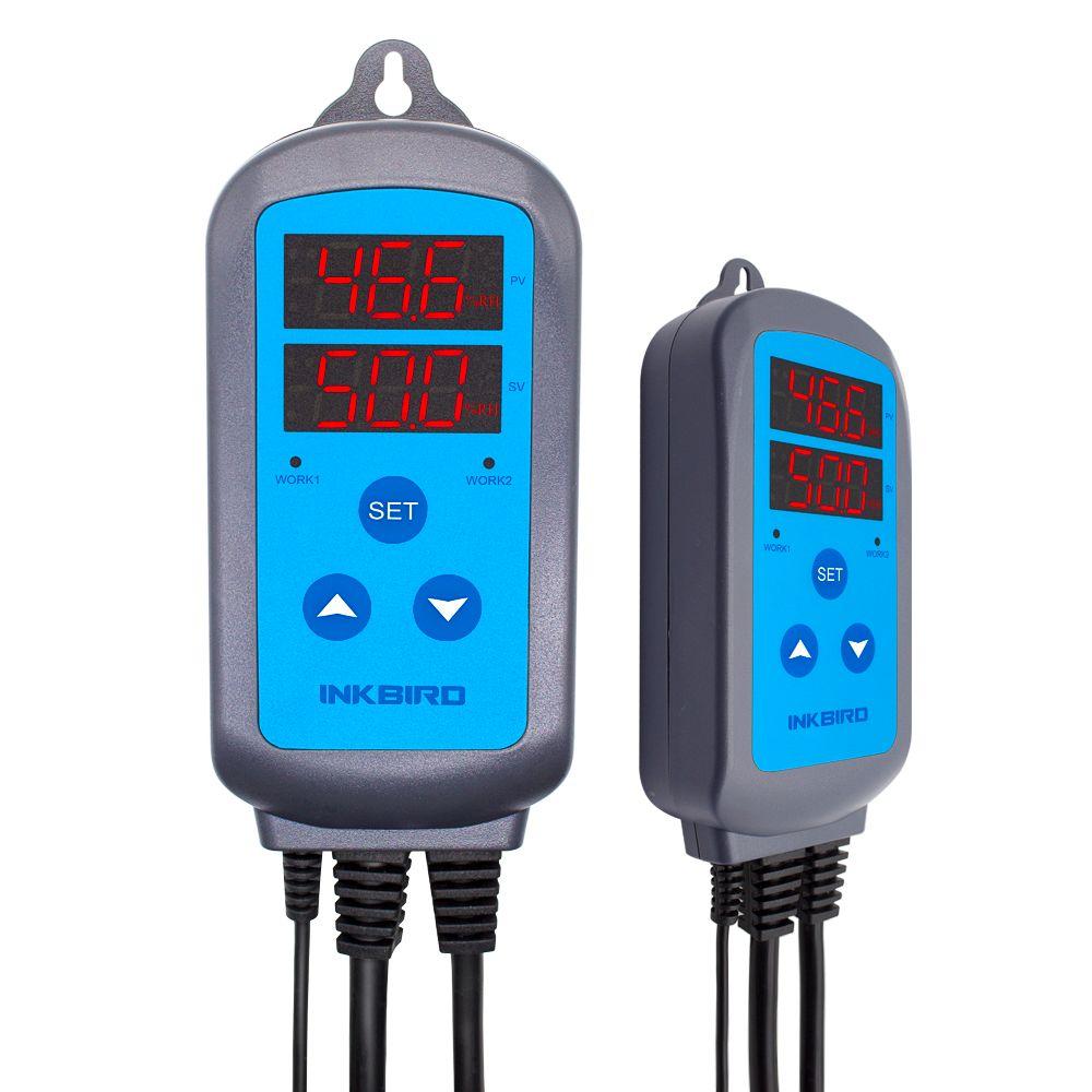 Contrôleur d'humidité de scène numérique pré-câblé Inkbird IHC-200, contrôle d'humidification de déshumidification pour humidificateur et ventilateur