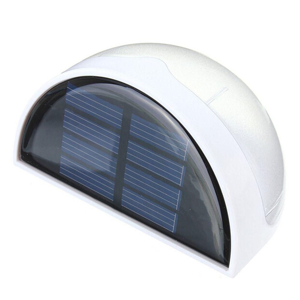Étanche capteur extérieur éclairage solaire alimenté 6 LED lumières clôture toit gouttière jardin mur décoration lampes