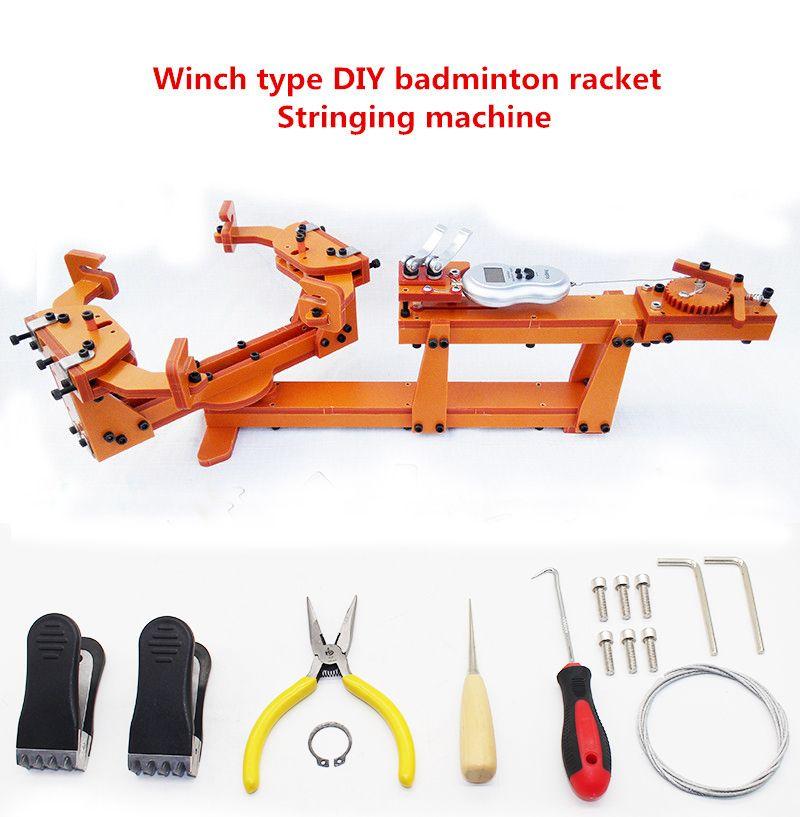 Winch typ Persönliche DIY badminton schläger besaitung maschine Ziehen Threading maschine draht bahre Über 60LB Y