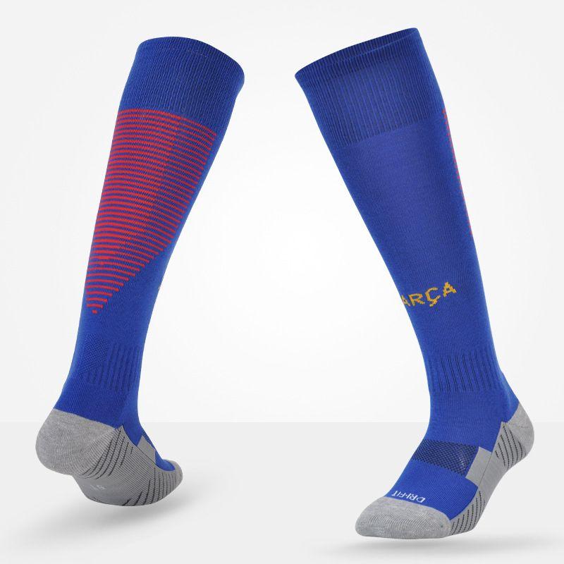 Men Soccer Socks New 17/18 Professional Club Football Antiskid Thick Warm Socks Knee High Training Long Stocking Socks For Adult