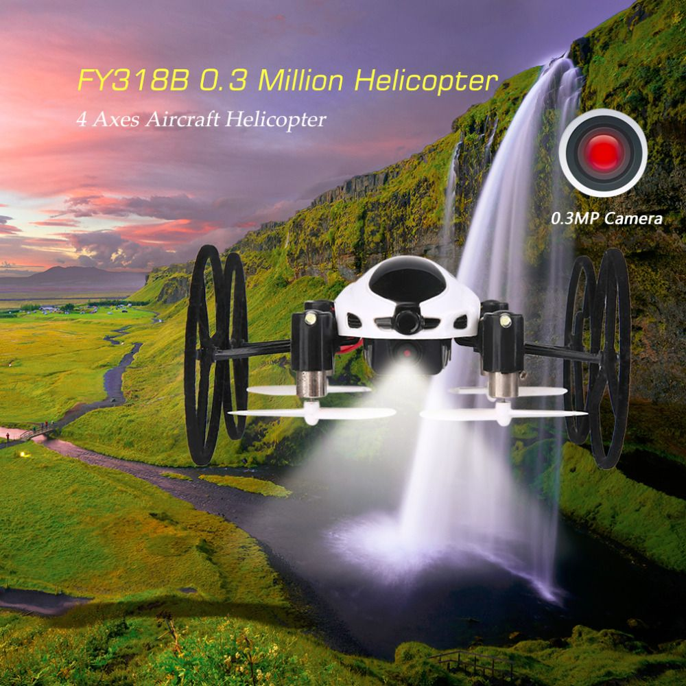 FY318B 4 Axes 0.3 Million Pixels Quadrocopter Remote Control RC Helicopters Aircraft 50M Control Distance UAV Accessories