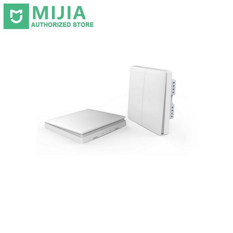 Xiaomi Aqara Smart Home contrôle intelligent de la lumière ZiGBee sans fil clé et interrupteur mural Via l'application Smarphone à distance par l'application Mijia