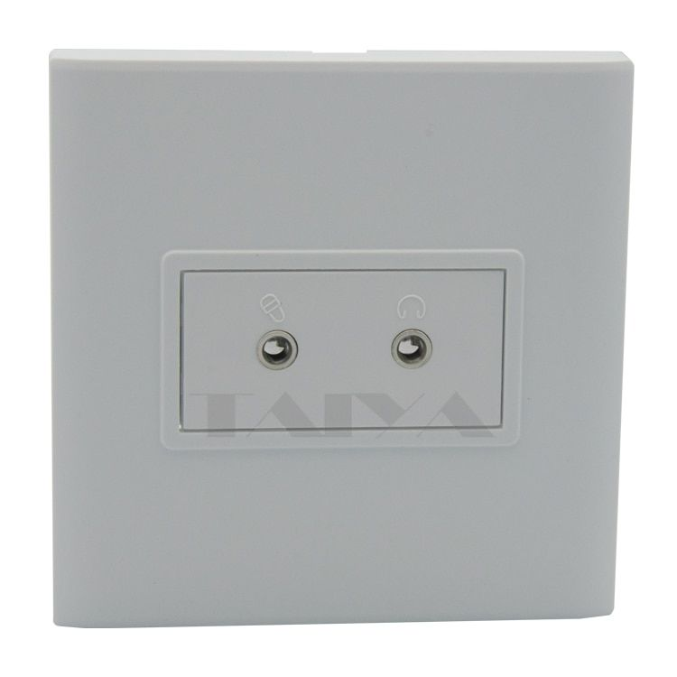 Dual ports 3.5mm stereo audio wall plate