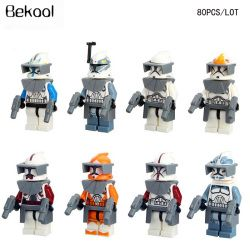 80 pcs/lot Star Wars Clone trooper Captain Rex Putih Clone Komandan Wolfpack Captain kompatibel legoe mini toy bangunan blok