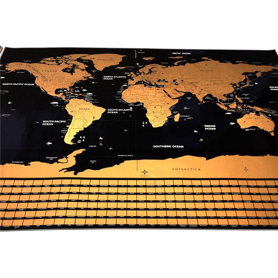 <font><b>Drop</b></font> shipping American warehouse World Map travel maps 82x59cm