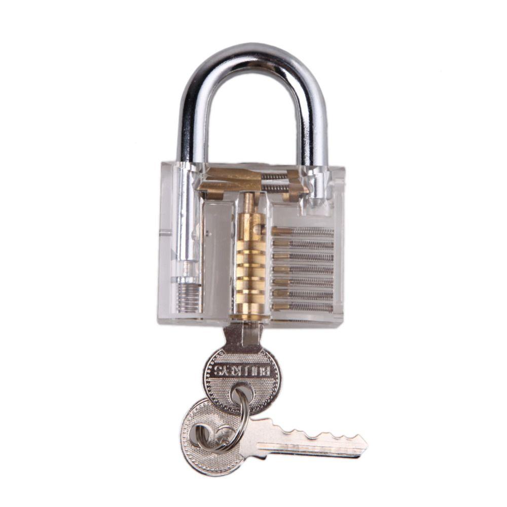 Professionelle Lockpick Vorhängeschloss Verschluss-auswahl Set für Schlosser Praxis Ausbildung Fähigkeiten Cutaway Innenansicht Vorhängeschloss Schlosser