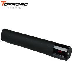 TOPROAD большой мощность 10 Вт HIFI Портативный беспроводной Bluetooth динамик стереозвуковая панель TF FM USB Сабвуфер Колонка для компьютера ТВ телефон