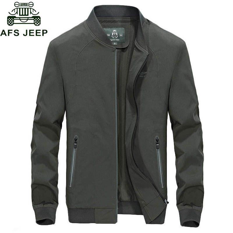 Afs Jeep Marke Bomber Männer Jacke 2018 Militär Frühjahr Herbst Jacken Herren Plus Größe M-4XL chaqueta hombre Stand Lässig Jacke