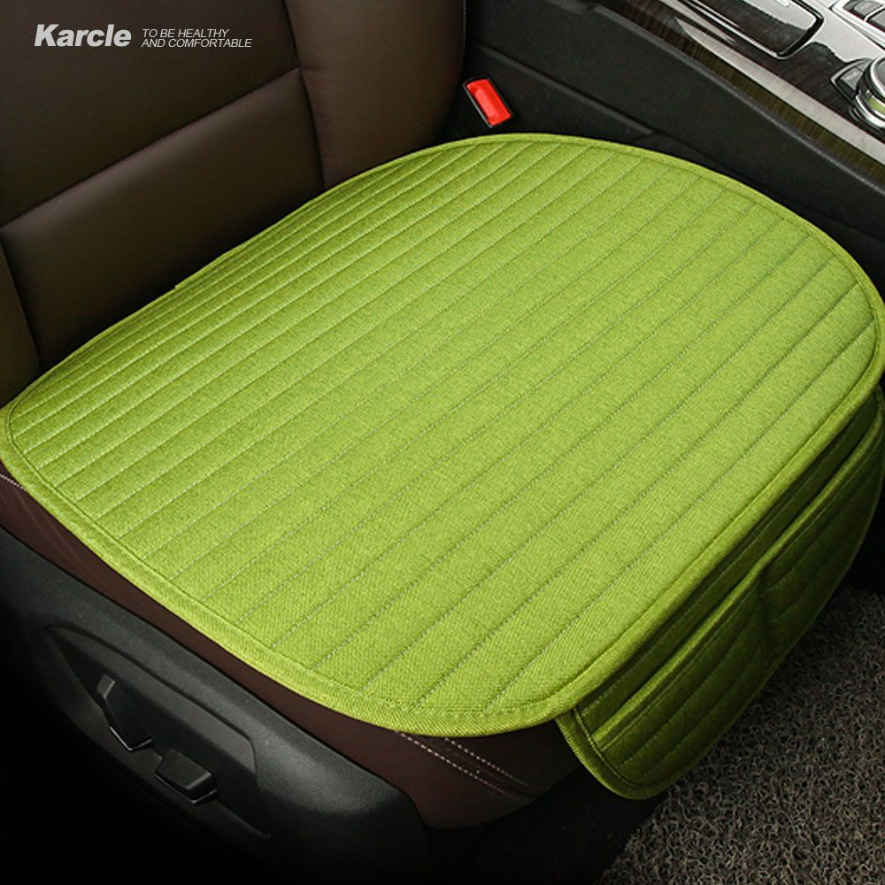 Karcle Health Linen Car Seat Covers Universal Breathable Seat Cushion Pad 4 Seasons Cool in Summer Auto Accessories Car-styling