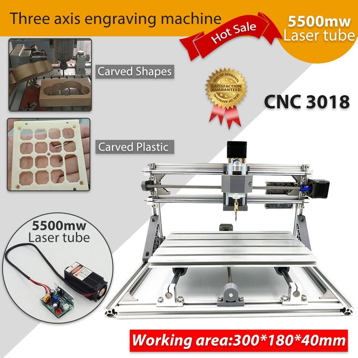 CNC 3018 5500mw/2500mw Laser mini cnc engraving machine cnc milling machine cnc kit Wood Router
