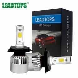 Leadtops H11 LED H7 H1 H4 9003 linterna del coche bombilla H3 LED 9004 9005 haz luces externas auto Car- estilo 72 W 6500 K blanco 12 V EB