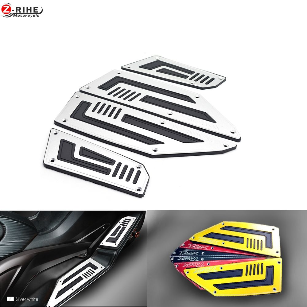 Motorcycle Footboard Steps Motorbike Foot For YAMAHA TMAX530 TMAX 530 T-MAX 530 2012 2013 2014 2015-16 Footrest Pegs Plate Pads