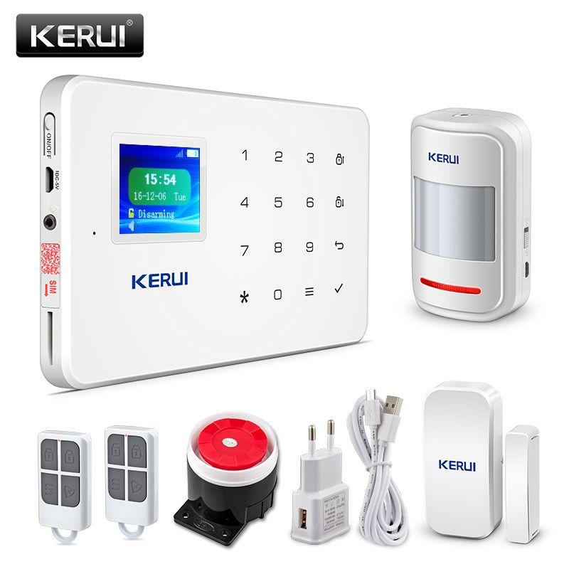 KERUI G18 Sans Fil À Domicile GSM système d'alarme de sécurité kit de bricolage APP Contrôle Avec Numérotation Automatique détecteur de mouvement Capteur système d'alarme antivol