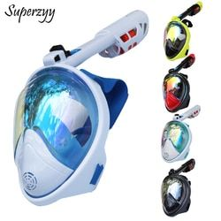 Full Face Diving Mask Anti-fog Snorkeling Mask Underwater Scuba Spearfishing Mask Children/Adult Glasses Training Dive Equipment