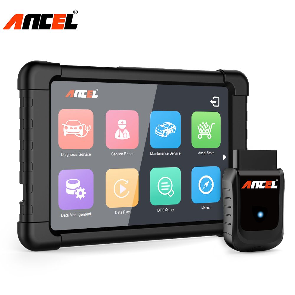 Ancel Full System OBD2 WIFI Scanner Windows Tablet Diagnostic Tool Multi Languages ABS SRS DPF Oil Reset Automotive Scanner