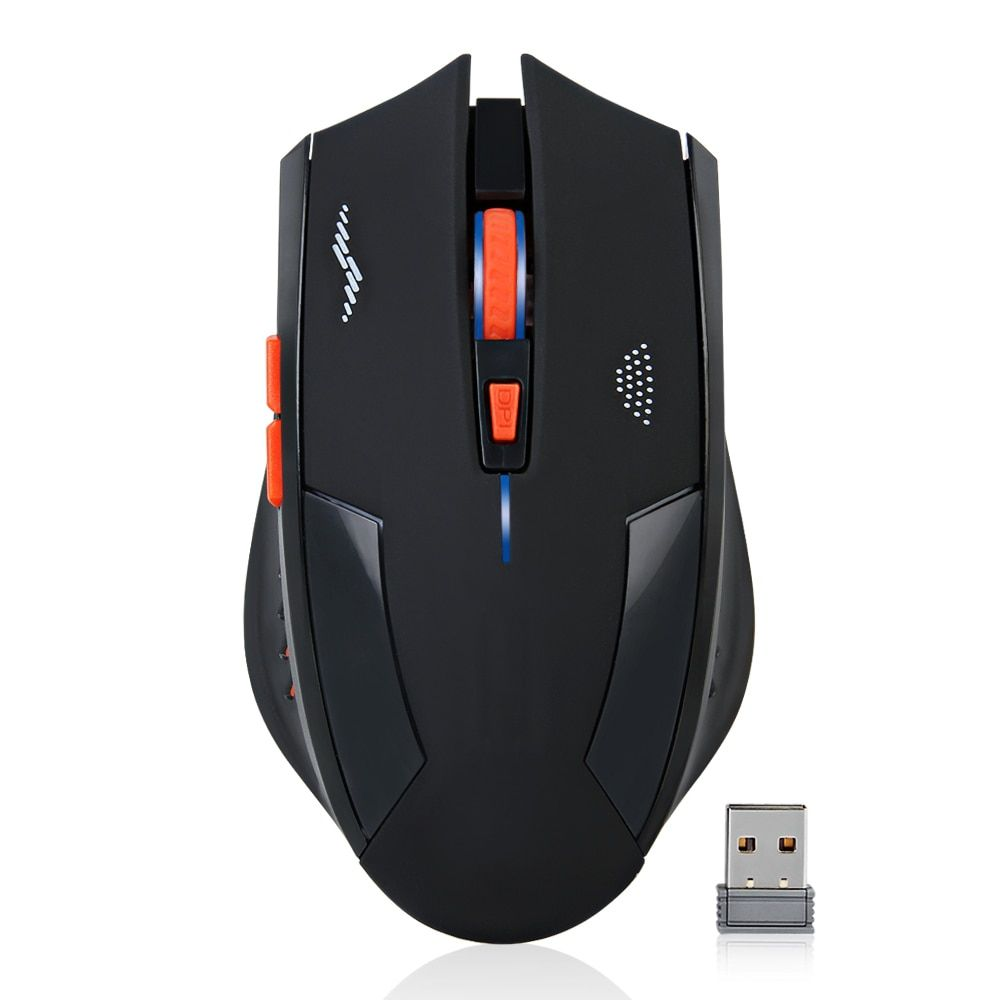 Rechargeable Wireless Mouse 2400DPI 2.4G USB Laser Gaming Mouse Silence Built-in <font><b>Lithium</b></font> Battery For Laptop Computer Gamer Mouse