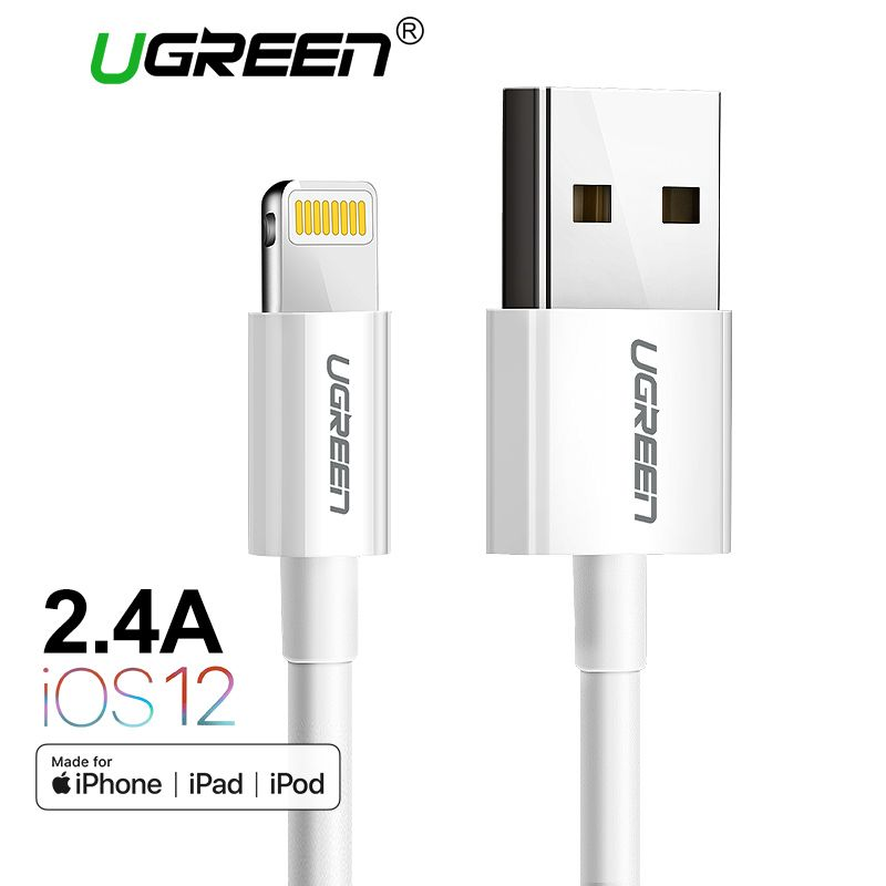 Ugreen MFi Lightning to USB Cable for iPhone Xs Max 8 7 6 Plus Fast Charging Data Lightning Cable for iPhone 5s USB Charger Cord