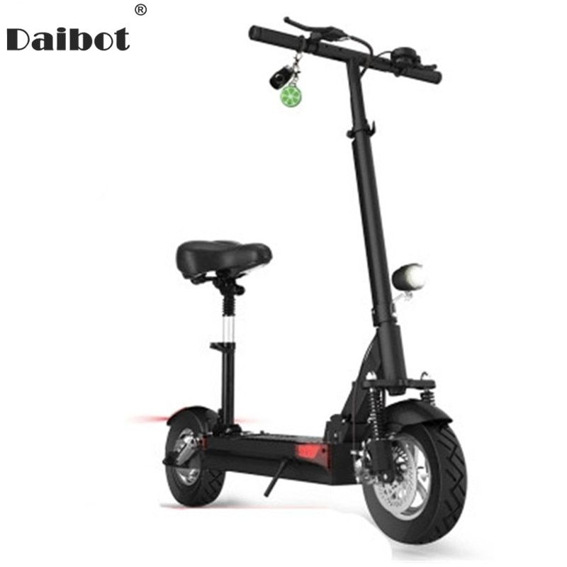 Daibot Y5S Y6 Y7 Foldable Electric Skateboard 10 Inch folding bike seated Electric Scooter with Seat Hoverboard Double Shock