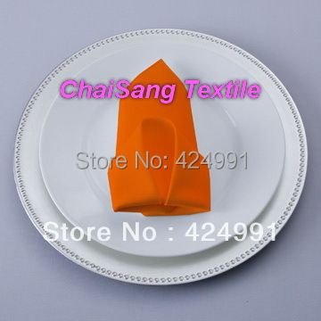 200pcs #35  Orange Polyester Napkin 45x45cm  For Wedding Event &Party Decoration