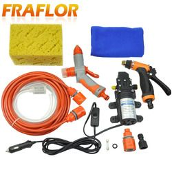 Tekanan tinggi Self-priming Pompa Listrik Mobil Mesin Cuci Mesin Cuci 12 V Mesin Cuci Mobil Cleaner + Pistol Air Busa [paket 1]