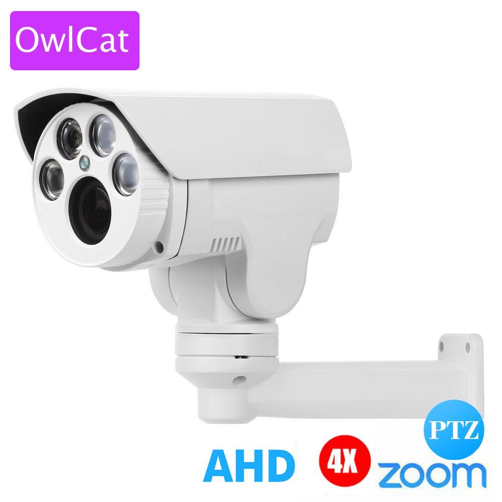 OwlCat AHD PTZ caméra extérieure HD 1080 P AHDH 4X 10X Zoom mise au point automatique 2.8-12mm 5-50mm 2MP analogique haute définition caméra IR