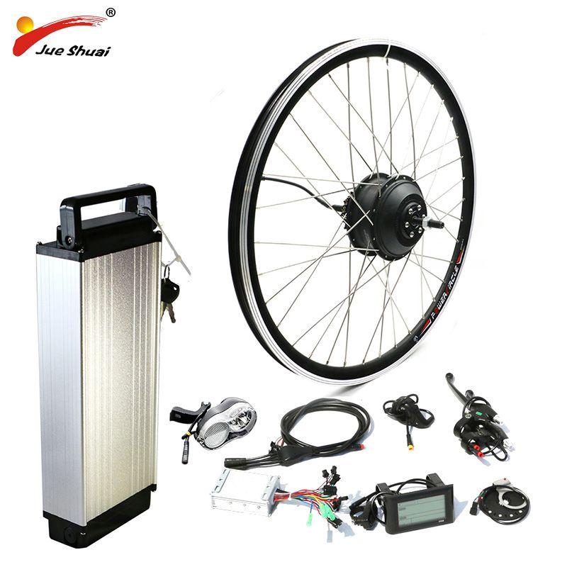 Hinten Rack Samsung 48 v Lithium-Batterie 250 watt 350 watt 500 watt Motor Rad E bike Conversion Kit LCD display Electric Bike Conversion Kit