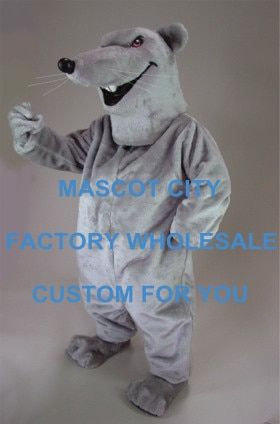 Grey Rat Mascot Costume Adult Size Cartoon Character Animal Carnival Party Cosply Mascotte Mascota Fit Suit Kit EMS FREE SW1034
