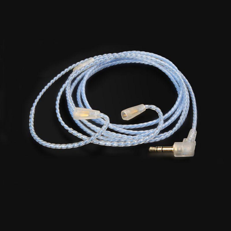 Earmax 4 core ручная работа посеребренные наушники гарнитуры Кабель наушников для IE8 IE80 IE8I ER80