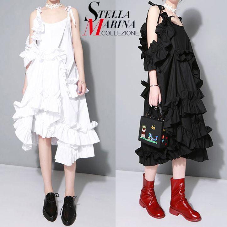 New 2017 Summer Women Sexy Black Long Dress Sleeveless Spaghetti Strap Cascading Ruffles Tank Dress Evening Party Club Wear 1514