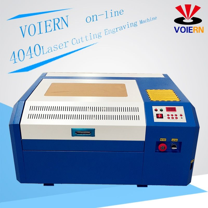 free ship to Moscow!50w laser cutting machine WR4040 co2 laser engraving machine diy mini cutting plywood Coreldraw support
