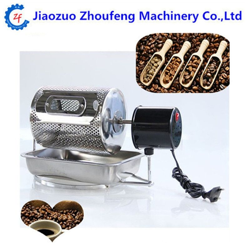Electric stainless steel coffee beans roaster mini coffee roasting machine 220v nuts baking tools for home use