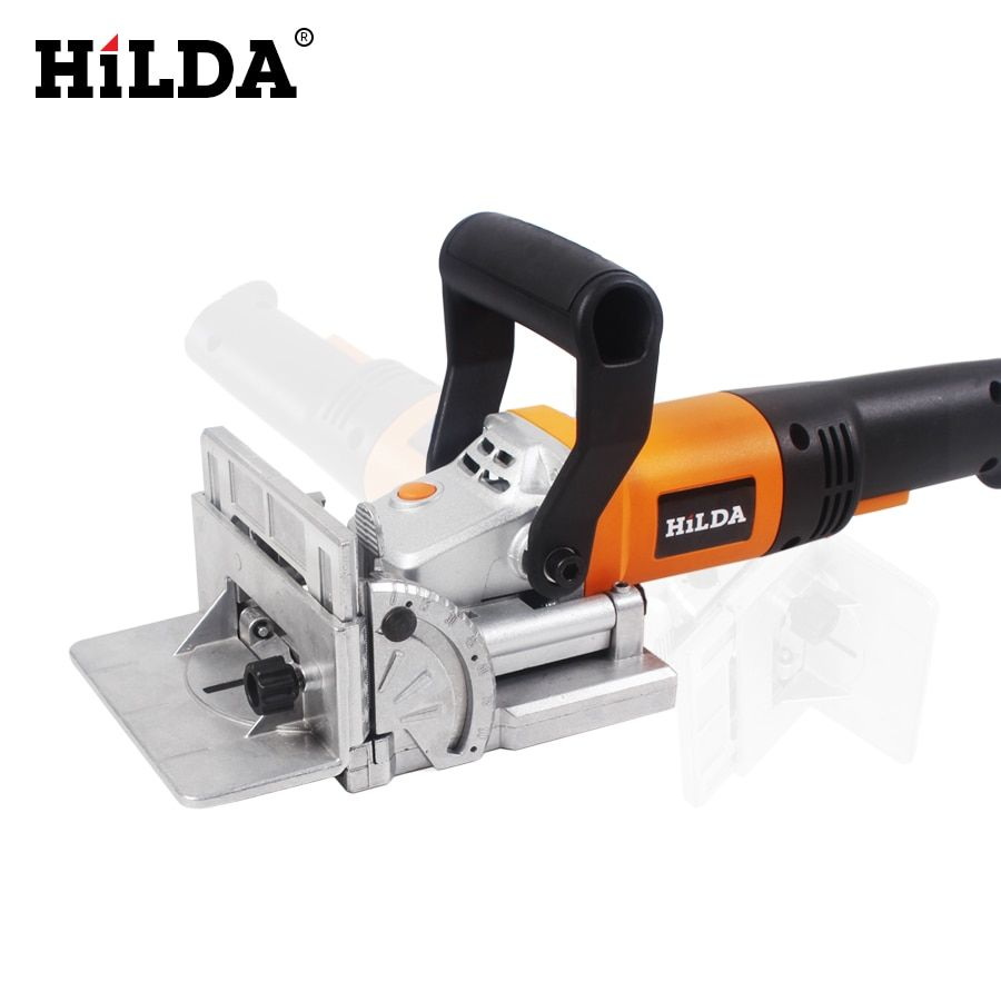 HILDA 760W Biscuit Jointer Electric Tool Woodworking Tenoning Machine Biscuit Machine Puzzle Machine Groover Copper <font><b>Motor</b></font>