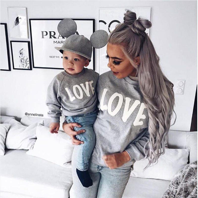 Футболки для пары love для мамы, сына и дочки одинаковые Рубашки для мальчиков Семья с капюшоном одежда